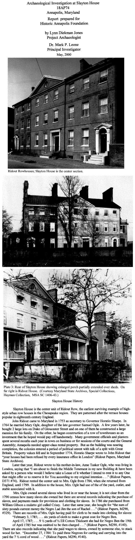 Slayton House Annapolis Maryland