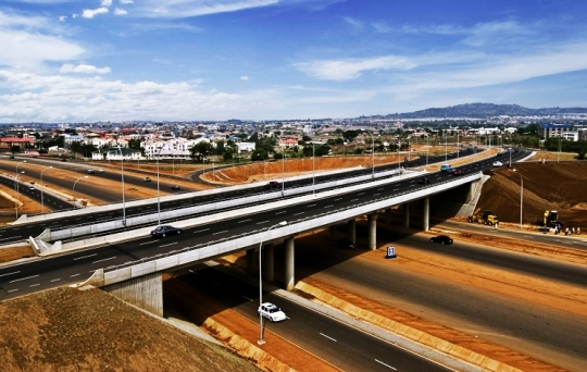 Abuja new freeway construction