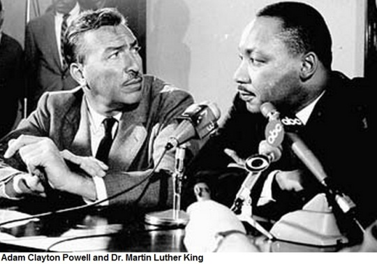 Adam Clayton Powell and Dr. Martin Luther King