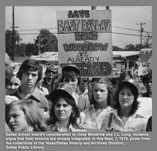 Dallas Schools Protest 1975