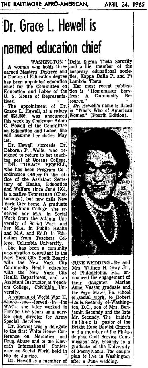 Dr. Grace L Hewell 1965