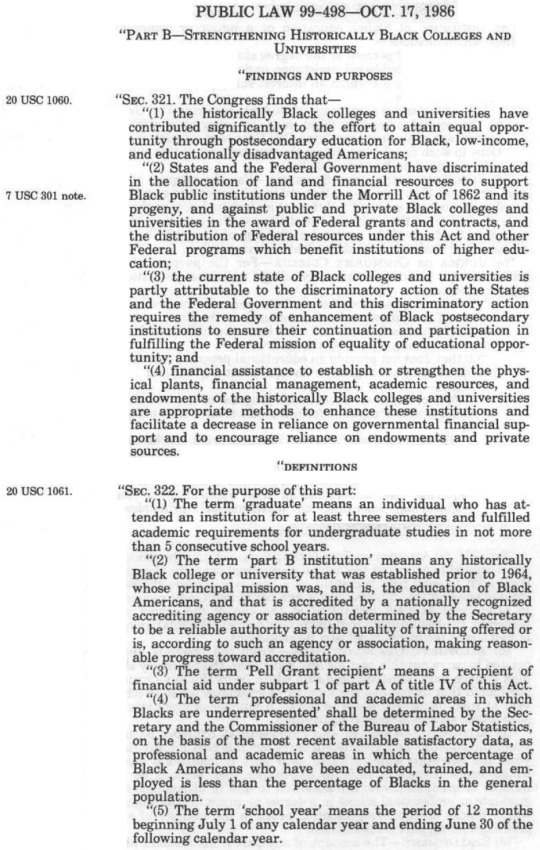 Higher Education Act of 1965 Amended 1986 HBCUs -Part 01