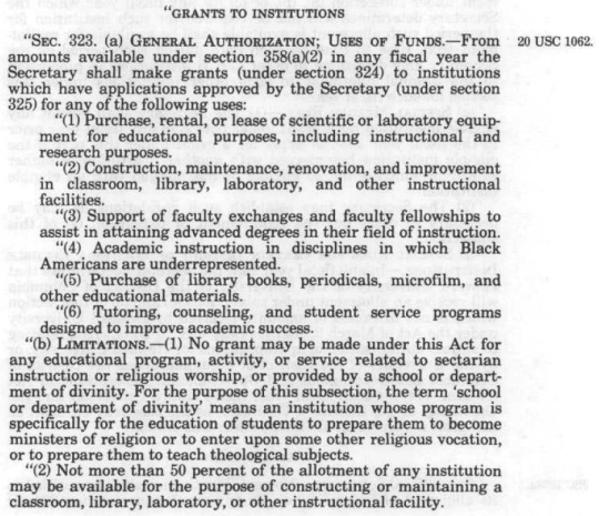 Higher Education Act of 1965 Amended 1986 HBCUs -Part 02