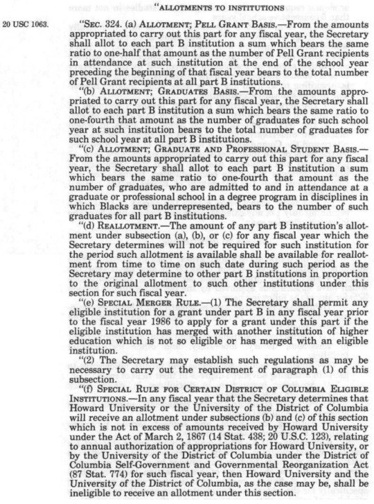 Higher Education Act of 1965 Amended 1986 HBCUs -Part 03