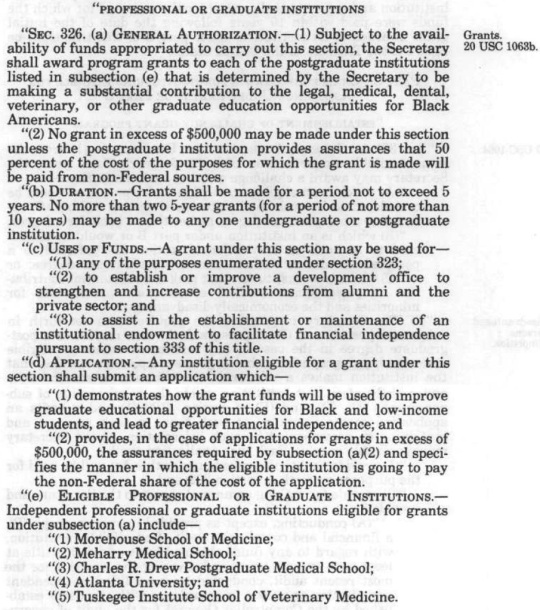 Higher Education Act of 1965 Amended 1986 HBCUs -Part 05