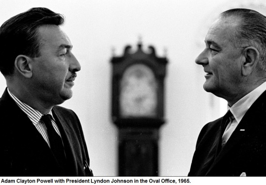 Powell and President Johnson