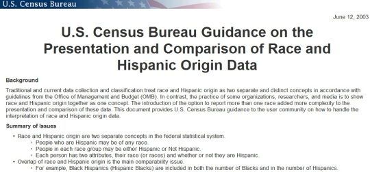 US Census Hispanic or Latino Origin