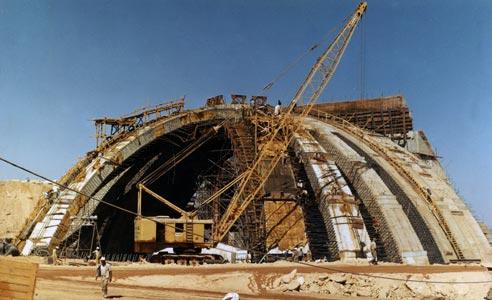 Abu Simbel concrete dome