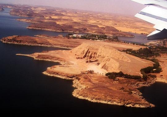 Abu Simbel aerial