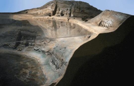 Abu Simbel model