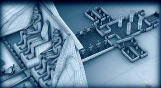Abu Simbel computer rendering