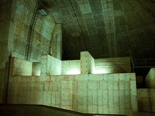 Abu Simbel interior concrete mountain