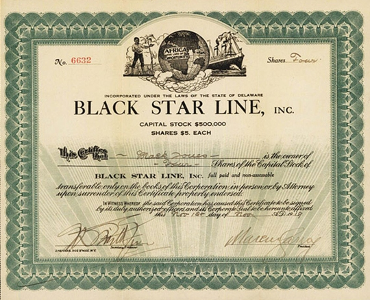 Black Star Line Stock