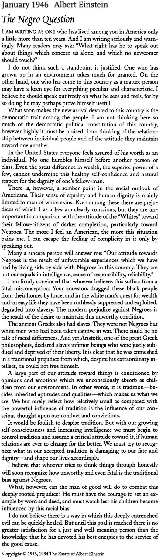 Einstein - African Americans 1946
