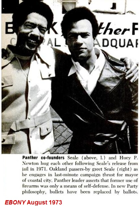 Huey P Newton and Seale Ebony 1973