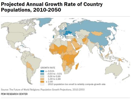 Islam growth 2050