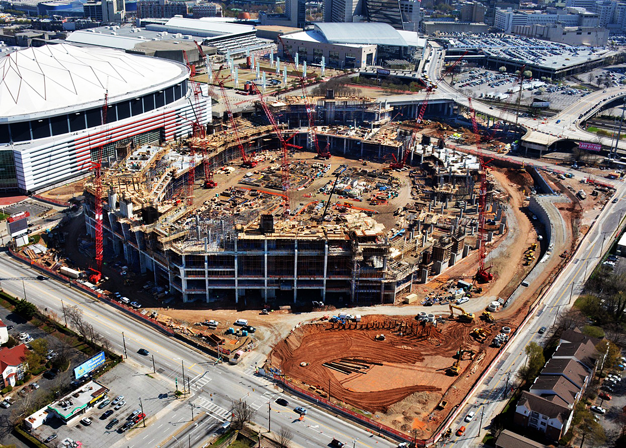Credit: Atlanta Falcons. The new stadium will feature 16 touchdown suites,  located on the field behind each end zone.