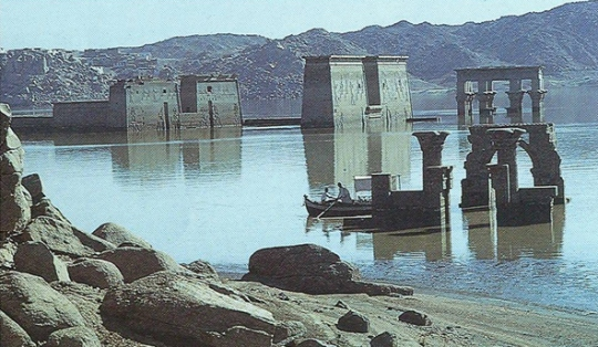 Philae Temple flooded by Aswan High Dam