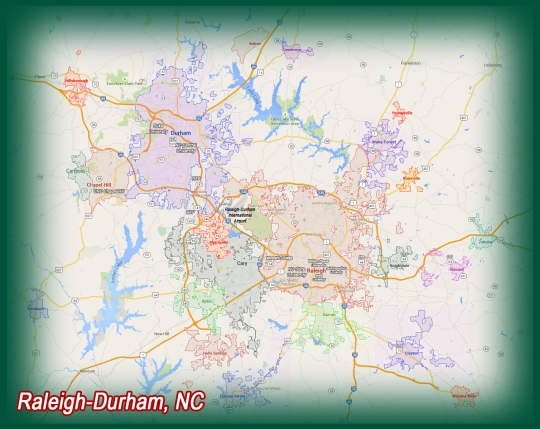 Raleigh-Durham Metro Map 2015