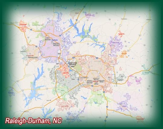 Raleigh-Durham Metro Map 2015