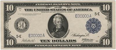 10 dollar 1914