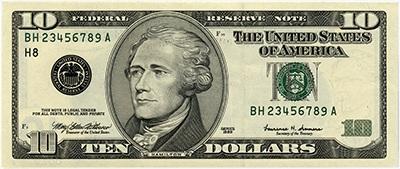 10 dollar 2000