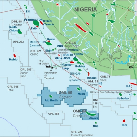 Nigeria Oil Blocks OML 83 and OML 85