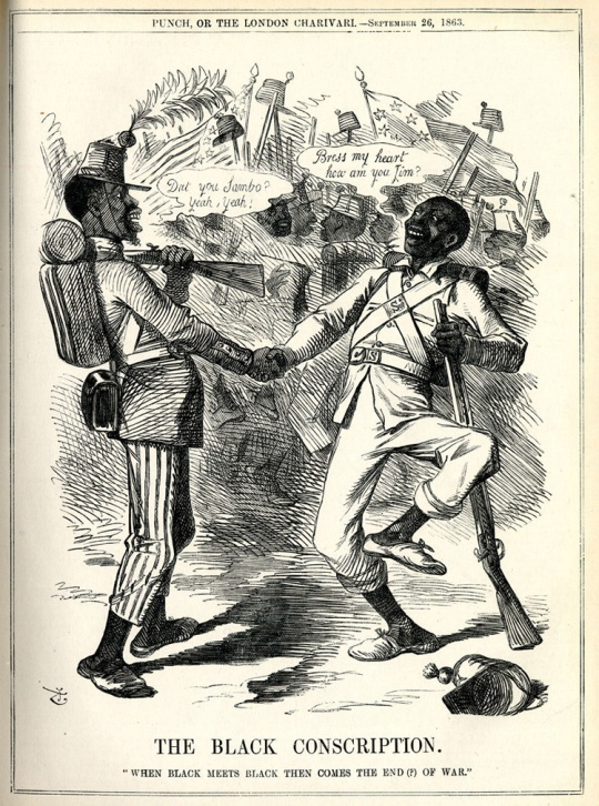 1863 Black Union and Confederate Soldiers