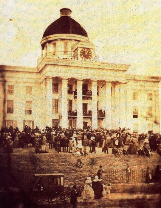 First inauguration of Jefferson Davis as President Confederate States of America at Montgomery Alabama February 18 1861
