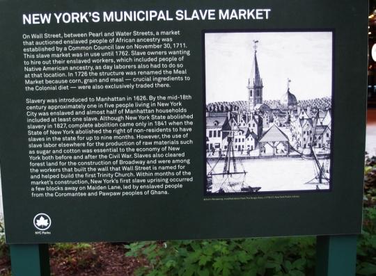 New York Municipal Slave Market