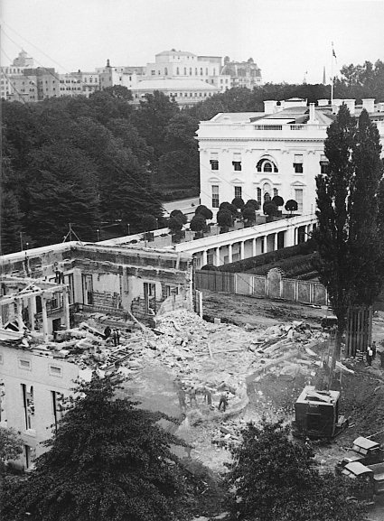 White House West Wing 1934 renovation