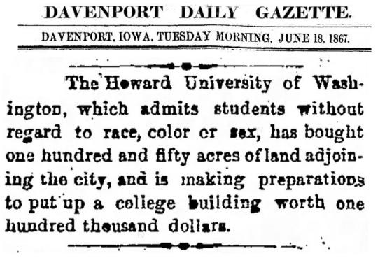 1867 Howard University
