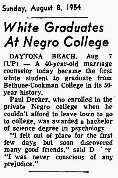 1954 Bethune Cookman
