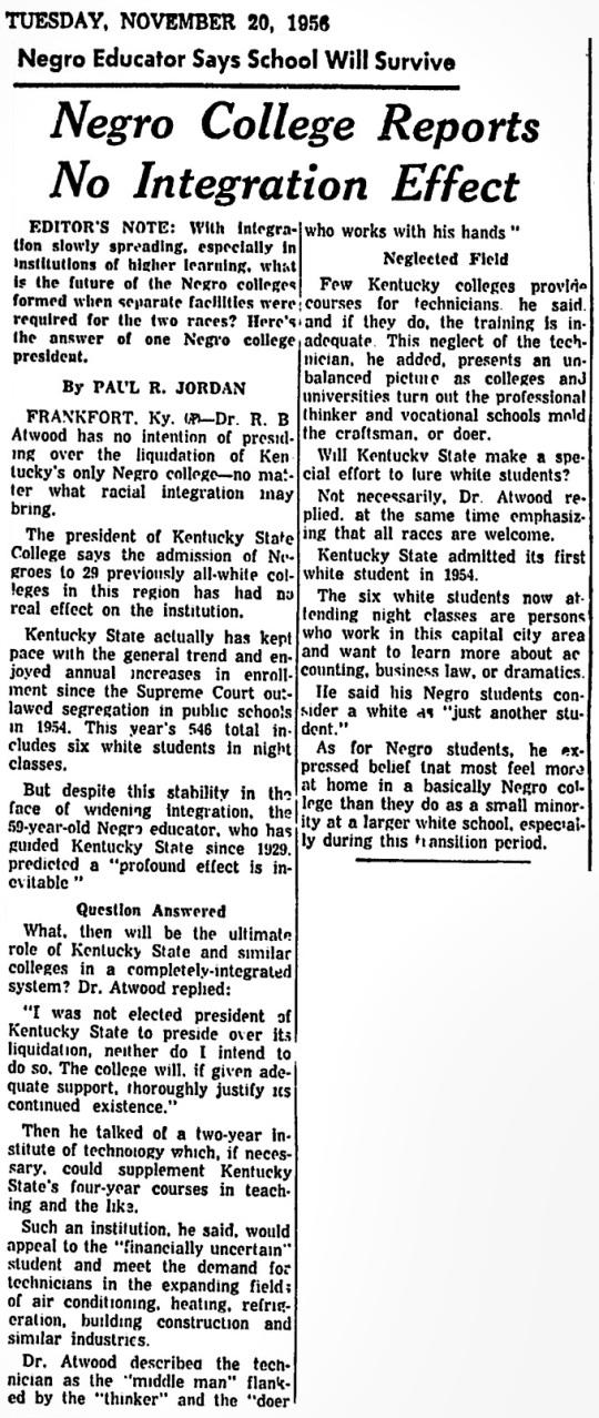 1956 Kentucky State