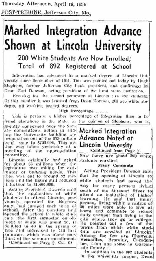 1956 Lincoln University Missouri