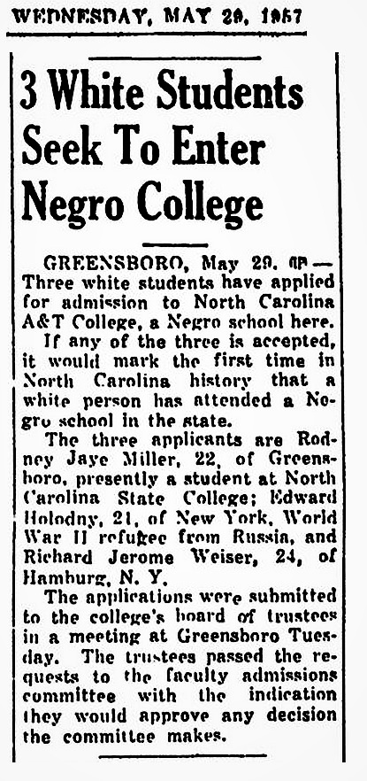 1957 North Carolina A&T