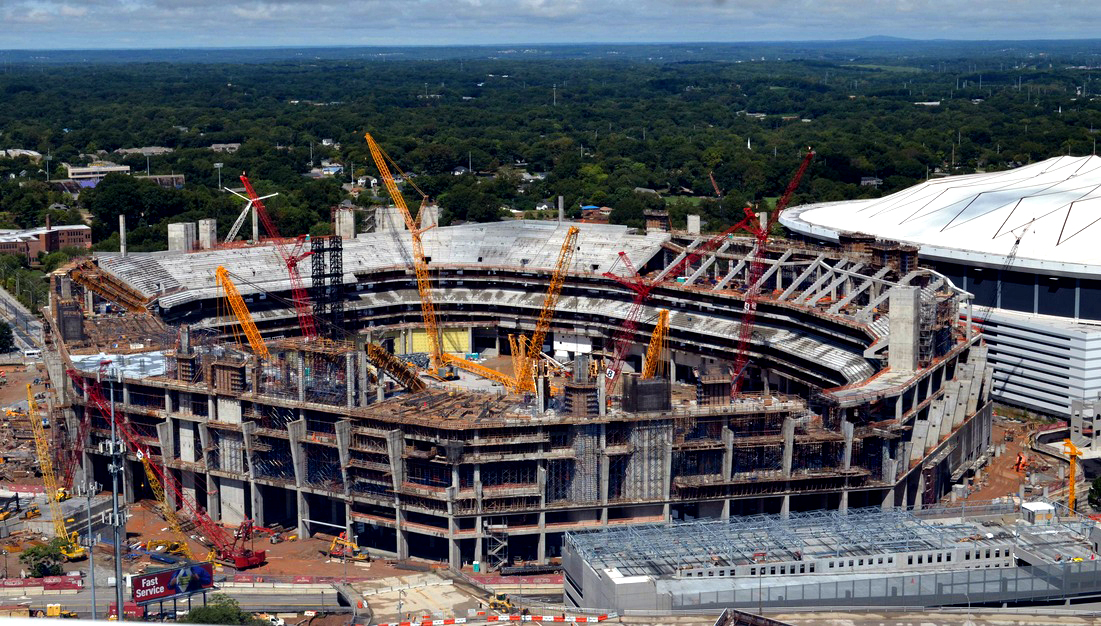 Nfl and mlb atlanta and minneapolis new stadiums update for Mercedes benz arena atlanta