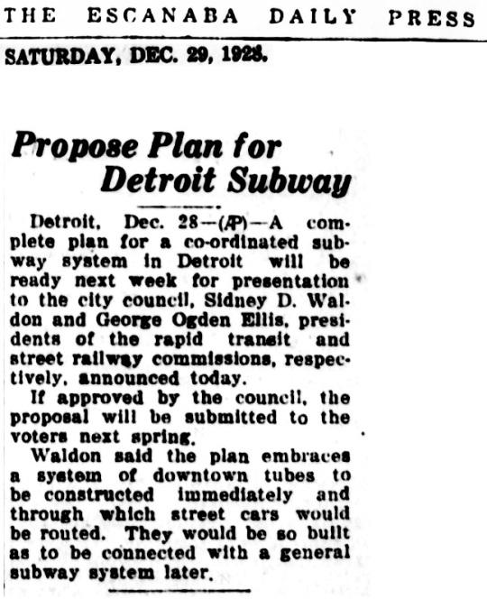 Detroit Subway 1928