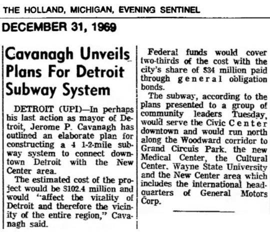 Detroit Subway 1969