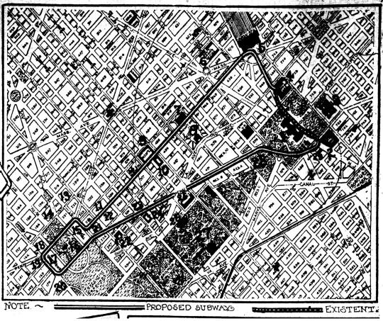 Washington Subway 1909 map