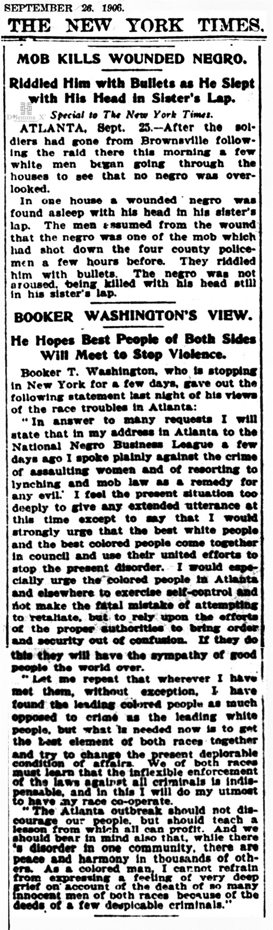 1906 Blacks Expulsion -Atlanta