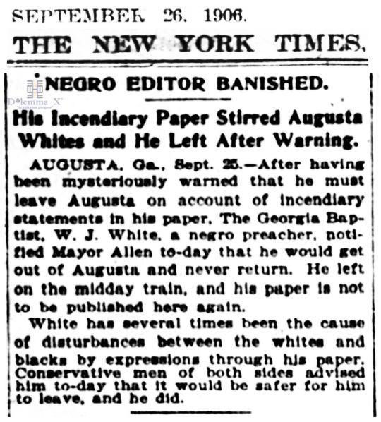 1906 Blacks Expulsion -Augusta