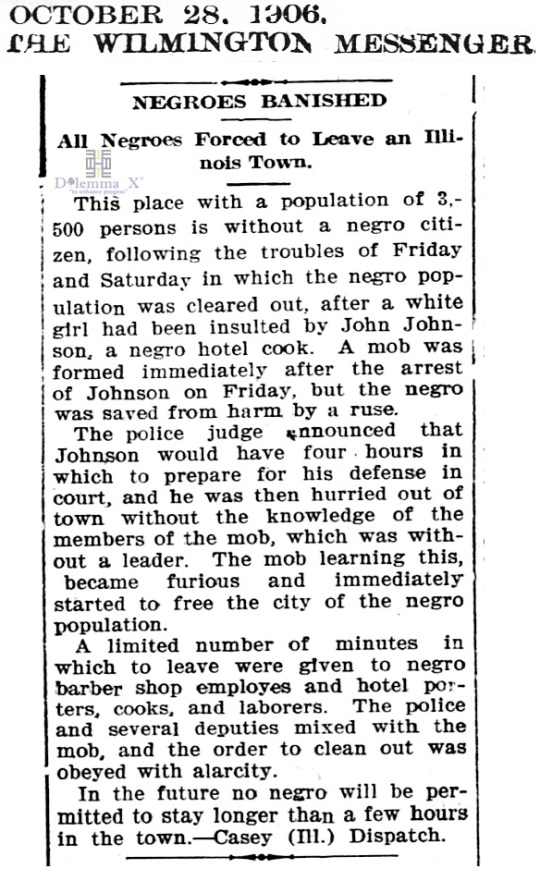 1906 Blacks Expulsion