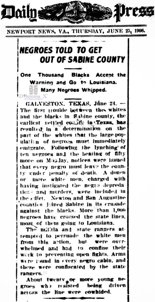 1908 Blacks Expulsion