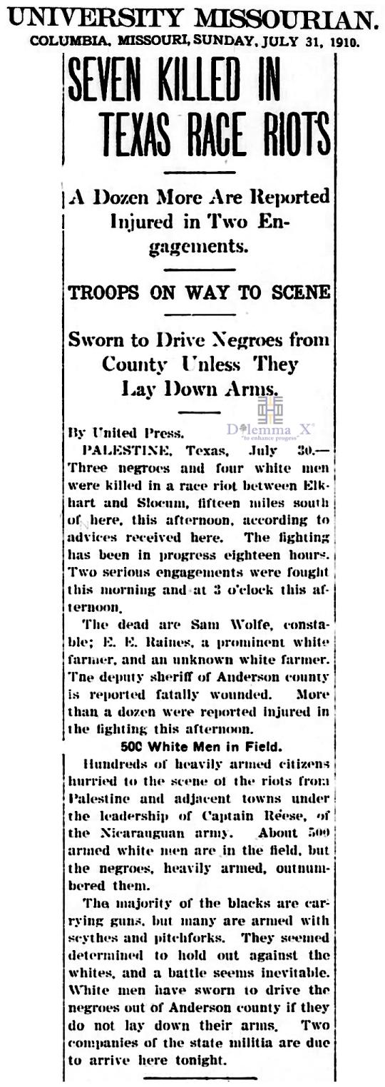 1910 Blacks Expulsion