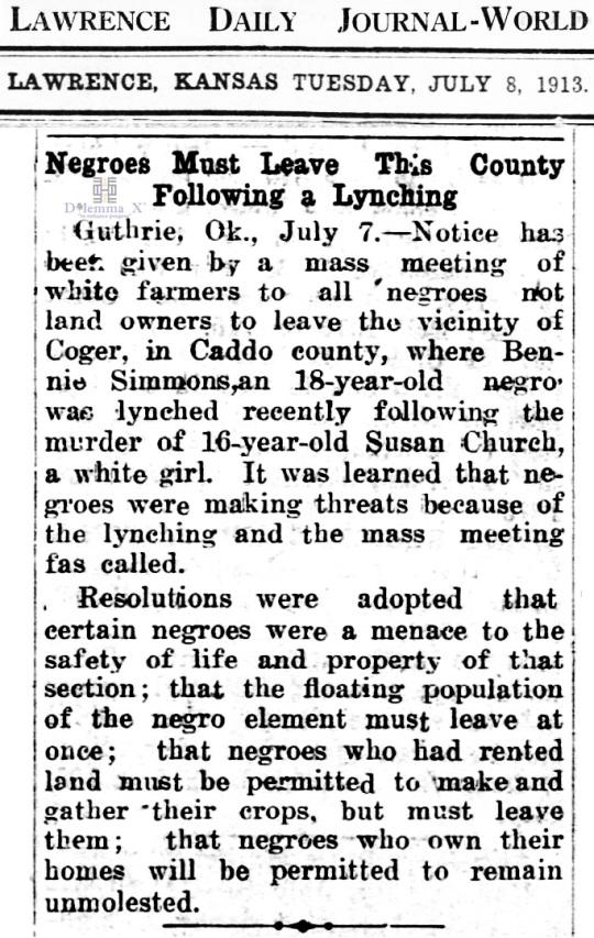 1913 Blacks Expulsion