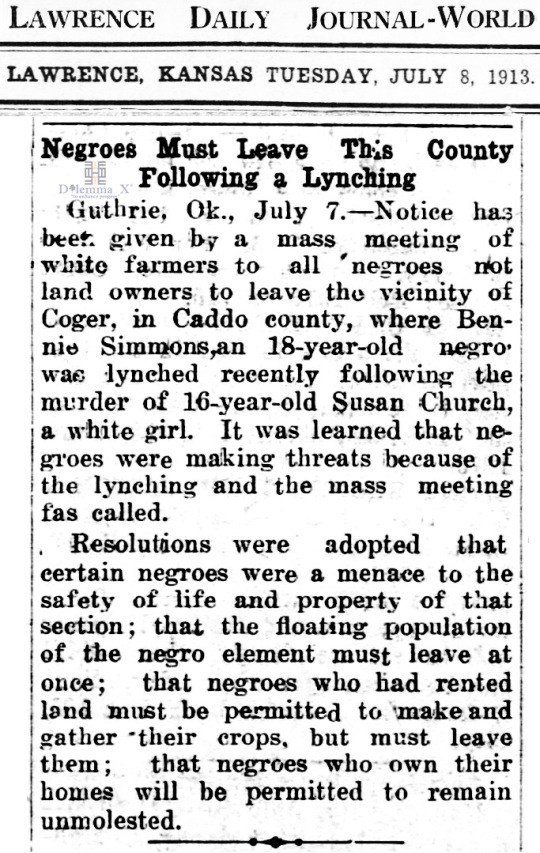 1913 Blacks Expulsion