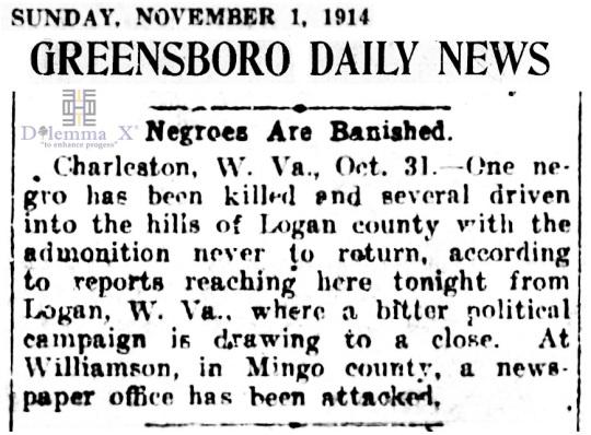 1914 Blacks Expulsion