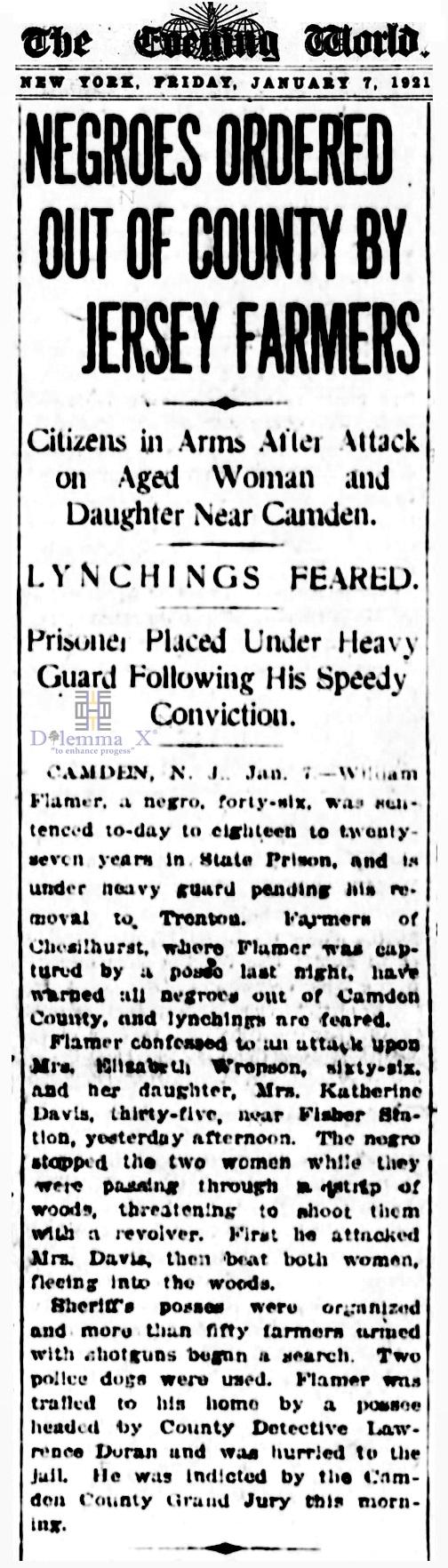 1921 Blacks Expulsion