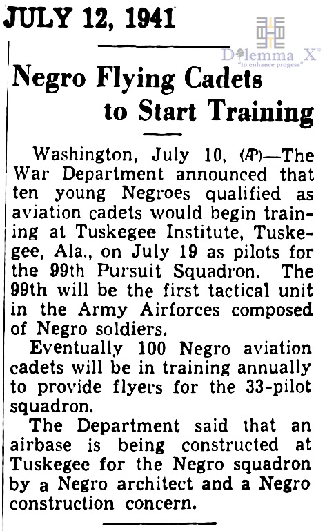 1941 Tuskegee Airmen 01